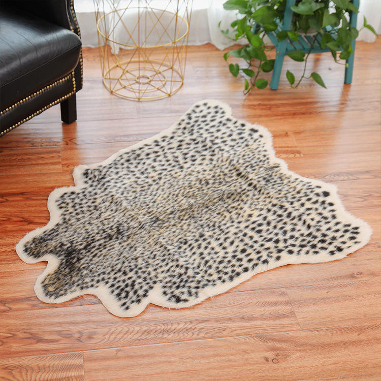 CX-D-F-33 High Quality China Wholesale Area Shaggy Fur Rugs Faux Cow Skin Rug Carpets