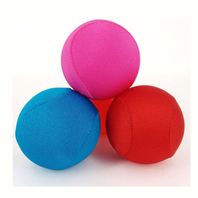 MOQ 500pcs Accept Custom Logo Stress Ball TPR Gel Lycra Fabric Water Bounce Ball