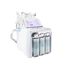 innovative products 2020 skin care beauty machine 6 in 1 H2O2 hydrogen oxygen small bubble machine