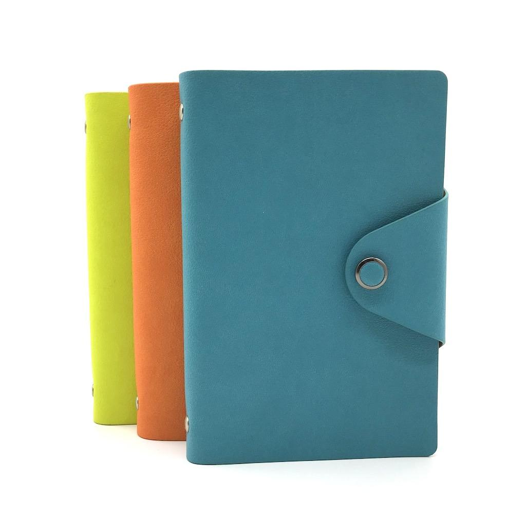 Hot model A6 size waterproof cute agenda leather notebook with clasp