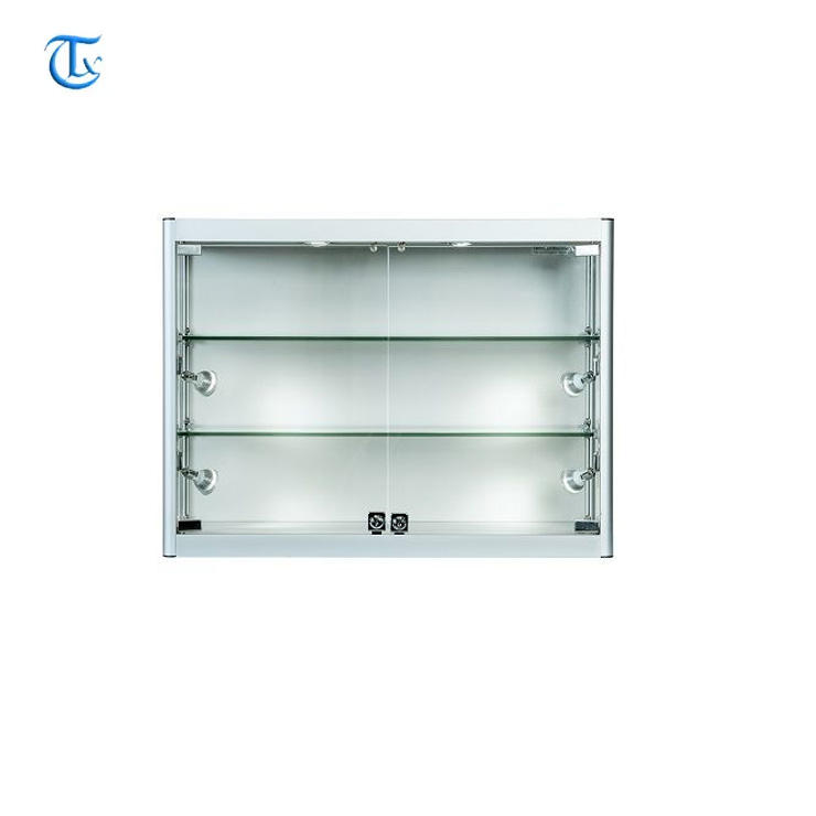 shop aluminum profile frame metal showcase display wall cabinet for model cars