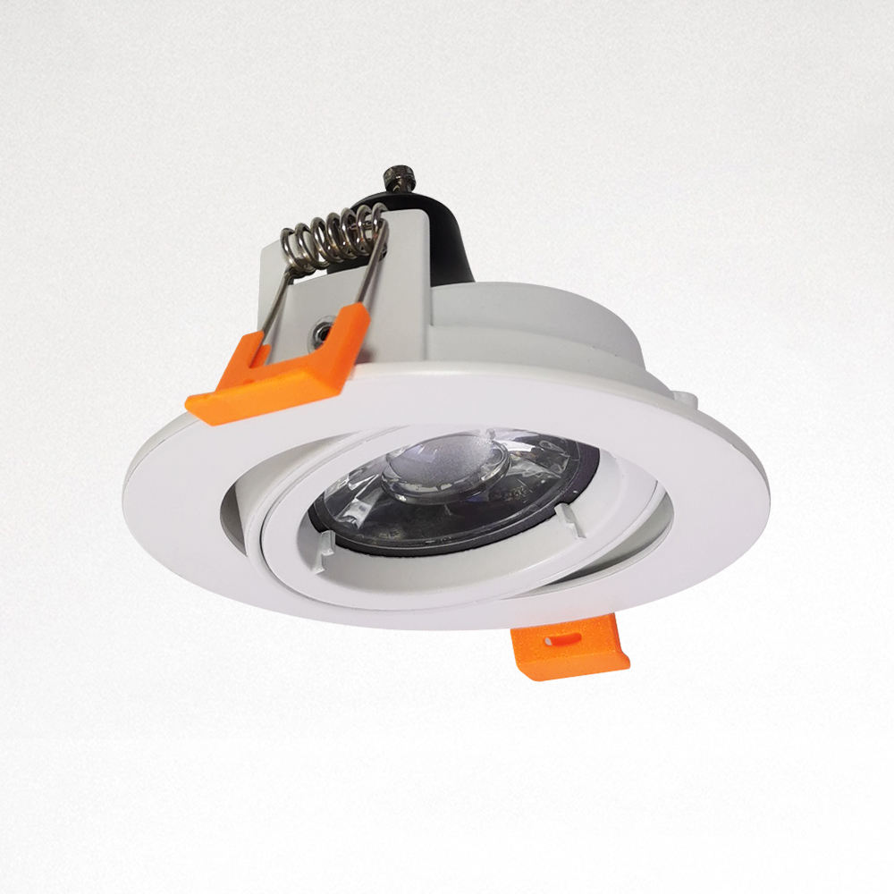 Hot Sale Down light Holder Recessed Round Double Rings Downlight MR 16 Lights Housing Adjustable