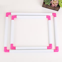 Handheld Square-Shaped Plastic Embroidery Frame Hoop Adjustable Embroidery Hoop for Cross Stitch Craft DIY
