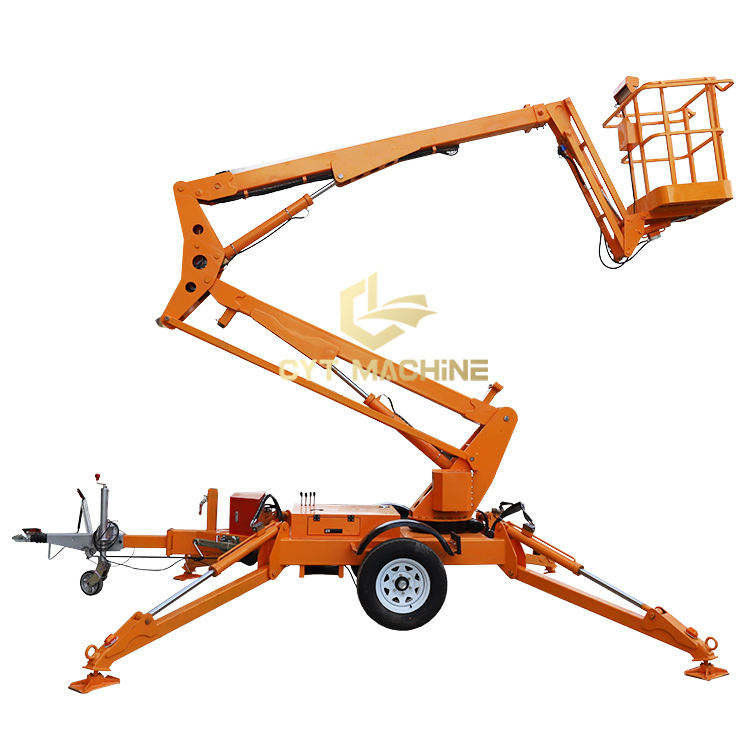 8~20m Towable Articulating Boom Lift Man Lift Aerial Work Platform