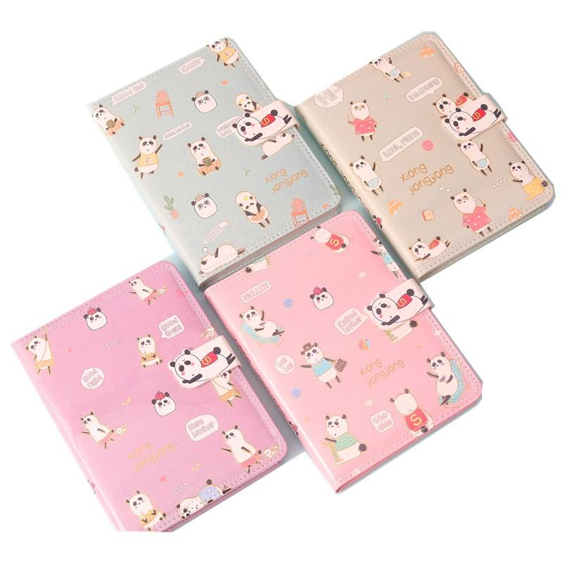B6 transparent EVA+white pu full color printing animal design hot sale and popular student use wholesale or custom notebook