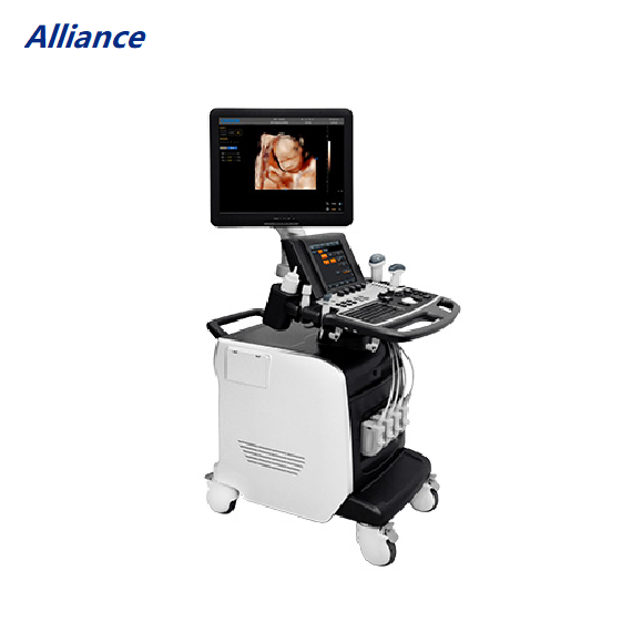 Chison I6 Troli Warna 4D Doppler Manusia Ultrasound 19 Inci Monitor LED 10. Panel Sentuh 4 Inch