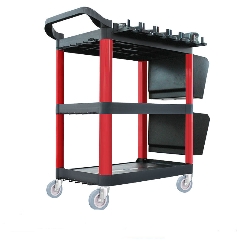 Newest Multi-function Plastic Rolling cart Working trolley tools with bucket