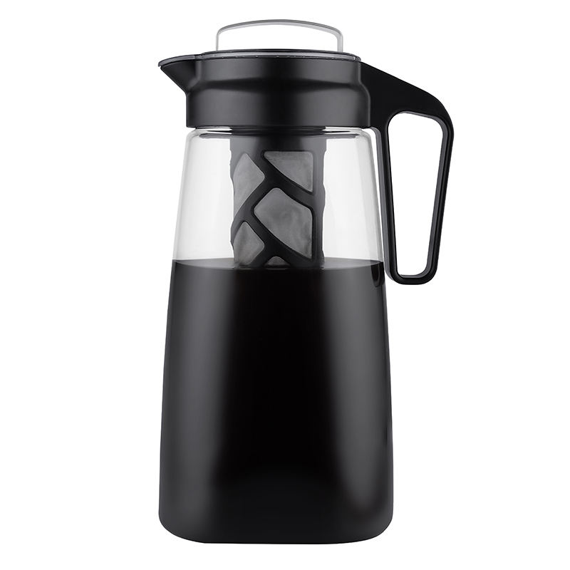 BPA Free Leak proof Tritan Cold Brew Coffee Maker with Airtight Lid PP Handle Easy To Clean Reusable Mesh Filter
