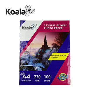 Koala premium 230g waterproof inkjet glossy photo paper A4*50Sheets