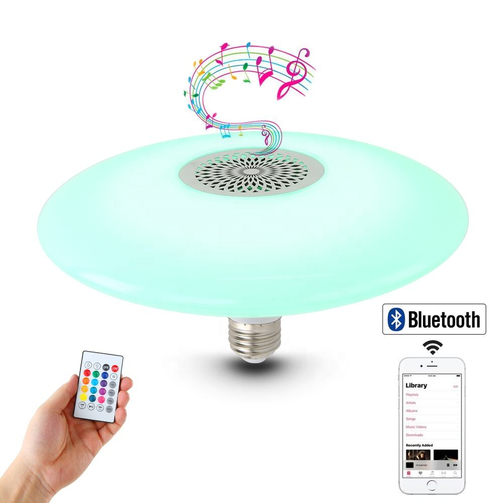 New Style RGB Wireless Bluetooth LED Music Bulb Bluetooth Control Smart Led Disco Bulb with Colorful Light at Night
