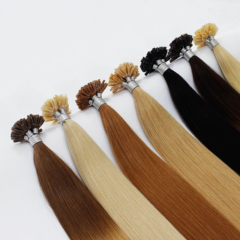 Vast wholesale 26 inch clip in one piece U-tip natural human hair extension 100% virgin remy straight tip hair extensions sale