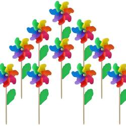 Wooden Stick Pinwheels,Windmill Party Pinwheels DIY Pinwheels for Kids Toy Garden Lawn Party Decor