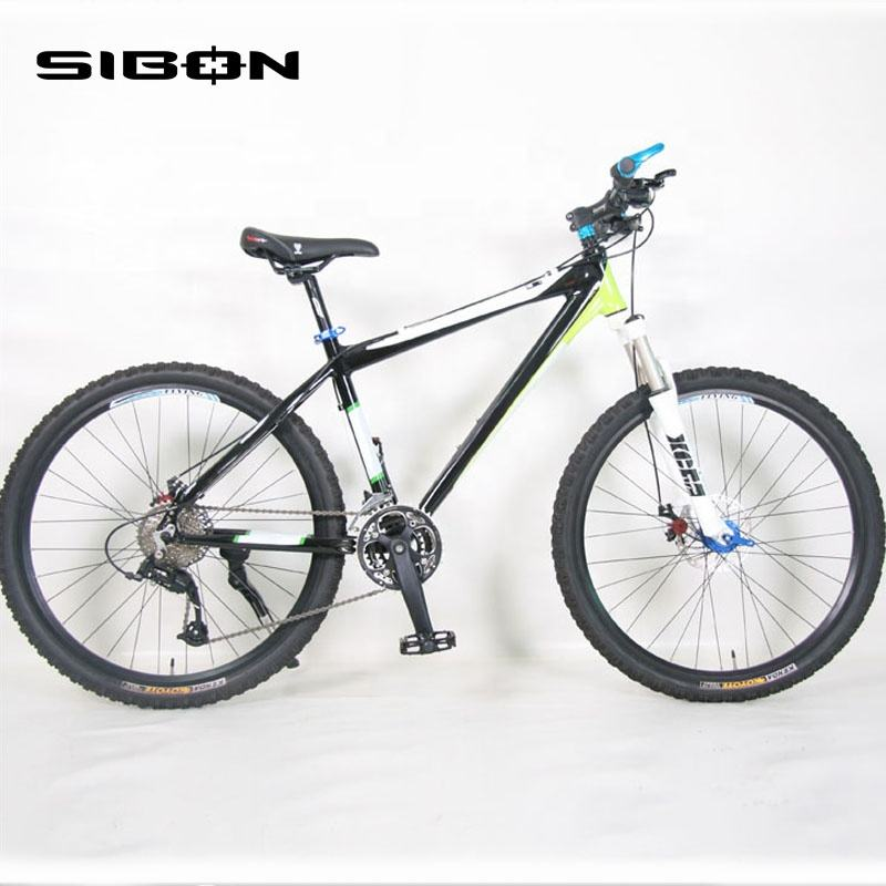 "SIBON B0230118 26"" 24 speed aluminium alloy frame disc brake full suspension mountain bike mountain"