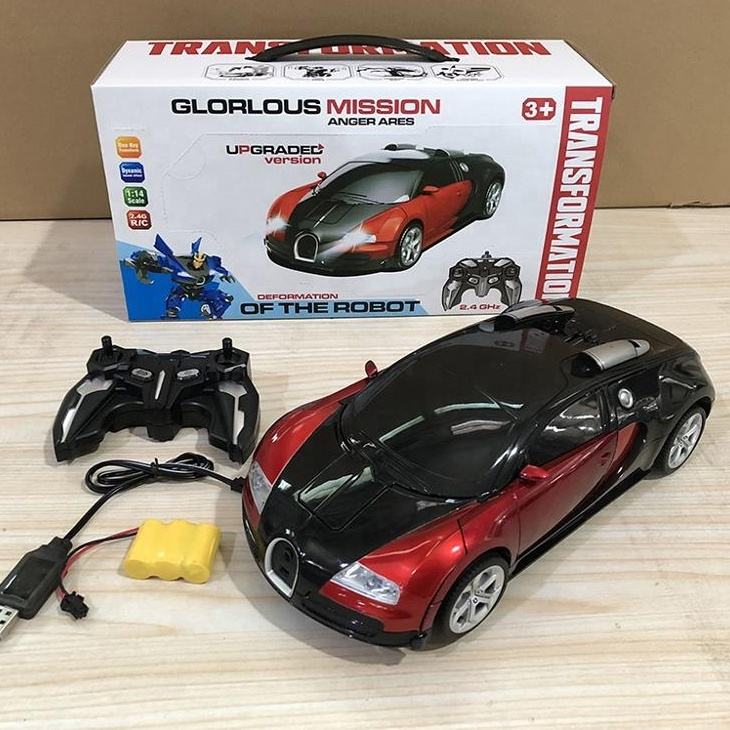 Best Christmas gift toys Rechargeable battery 1:14 RC Transforming toys one key RC action figutres R/C remote car with light