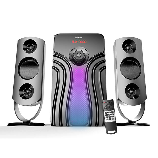 Computer Speakers Usb AC DC Powered USB SD FM Radio Bluetooth Home Computer TV 2.1 Sub Woofer Speaker