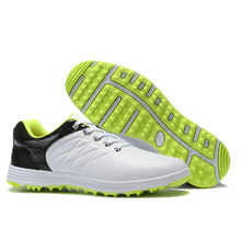 2019 New Men's Pro Waterproof Golf Shoe Spikeless/Non-slip Wear-resistant Breathable Sports Shoes Golf Shoe