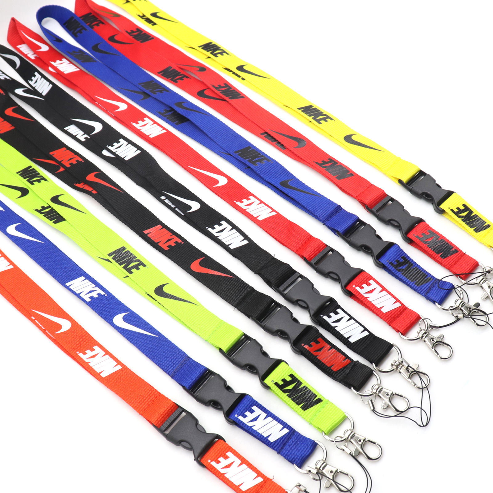 Multi color Keychain Holder Safety Polyester Neck Straps Nike Lanyard for phone,key and ID