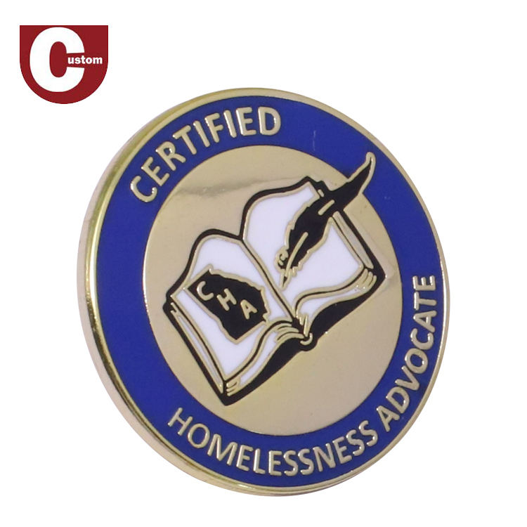 Custom enamel logo metal student school badges designs