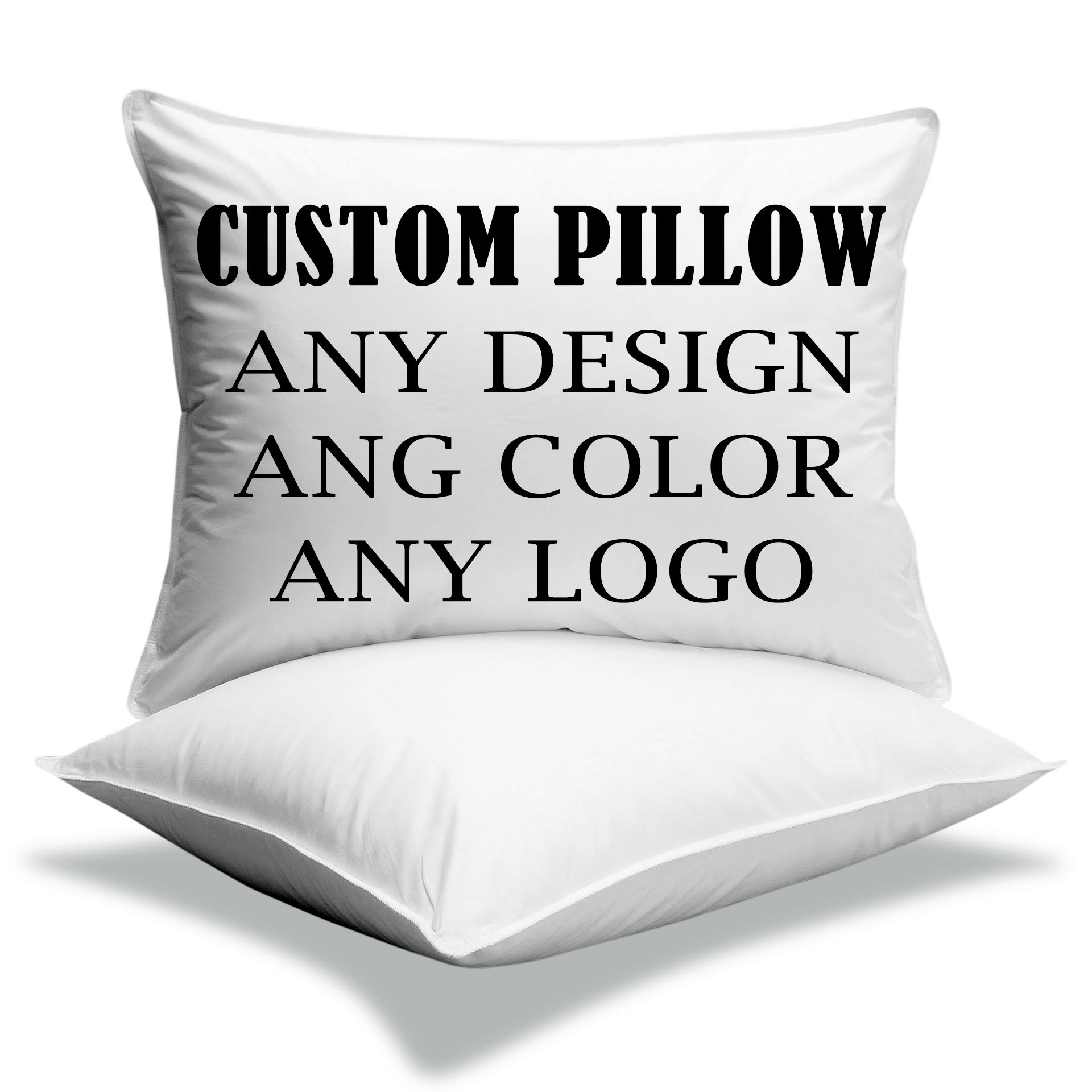 100% cotton woven printing padded material velvet feather sublimation portable hold Pillow Private custom print pillow cover