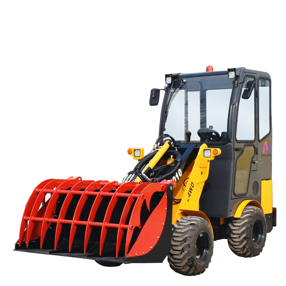 Garden farm used grapple crab bucket wheel loader wood clamp loader for forest