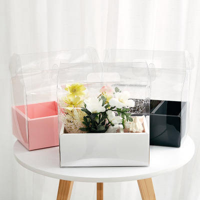 PVC mini cake flower gift packaging box party boxes