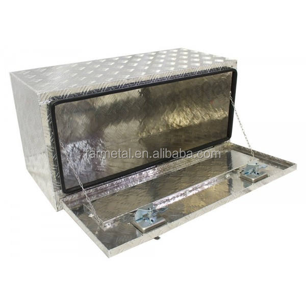 "36"" Underbody Aluminium Tool Boxes for Trailers Trucks UTE Slid Drawers Tools Storage Cabin Tralier Heavy Duty Rail"