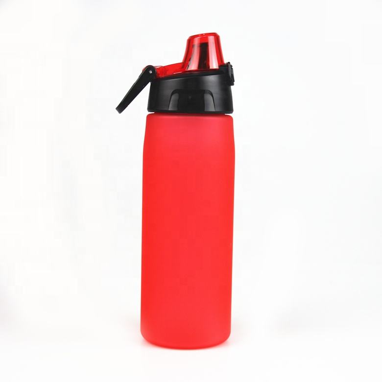 Plastic water bottle ecofriendly Matte black water bottle cycling sports bottle manufacture