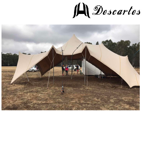 Khaki Big Marquee Bedouin Stretch Party Tents For Festival/Carnival Events
