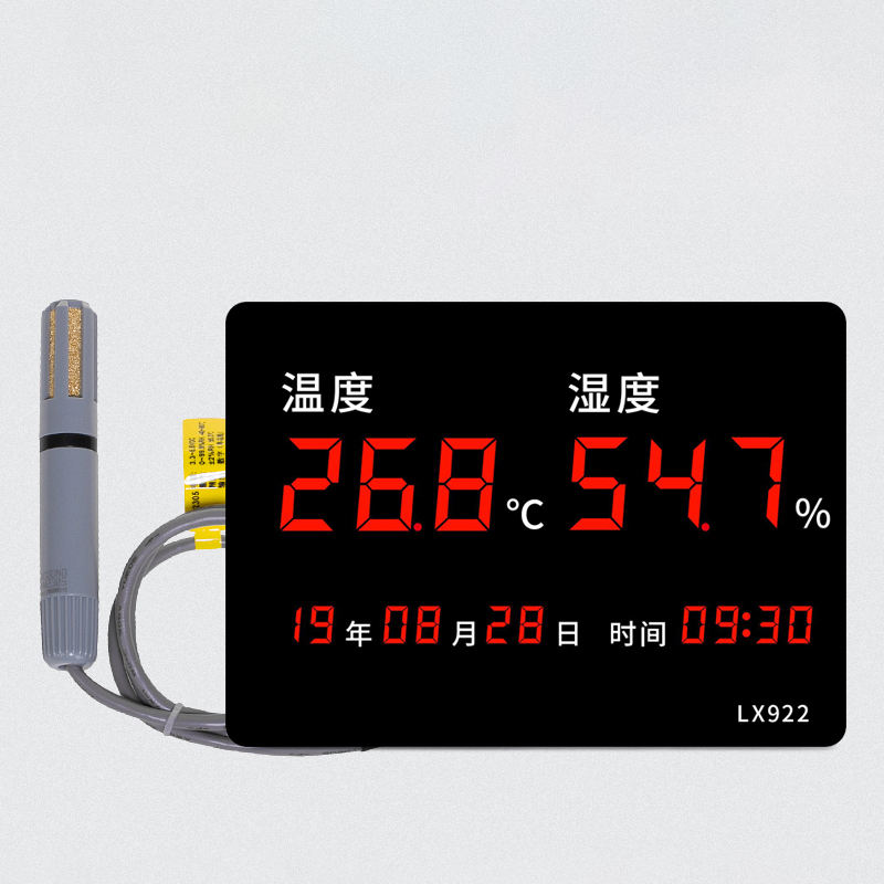 Wholesale Customizable Large Digital Temperature Humdity Display Board With Time and perpetual calendar