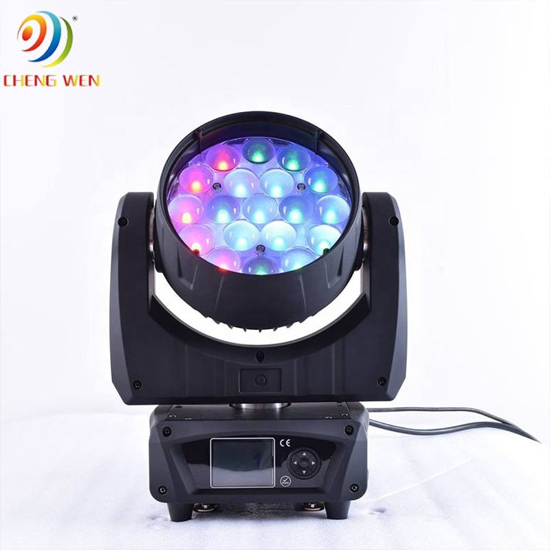 19 Pcs 15W Led Moving Zoom Wash Light RGBW Led Zoom Wash MovingライトStage Beam Lights