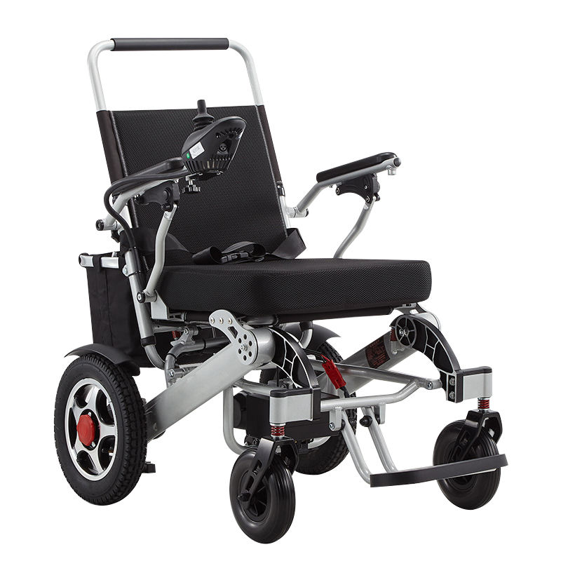 Aluminum Alloy Folding Lightweight One Step Supported Electric Wheel Chair for Online Wholesale