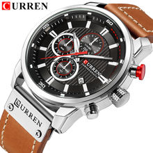 CURREN 8291 Men's Watches Quartz Movement Fashion&Casual Auto Date Leather Band Watches