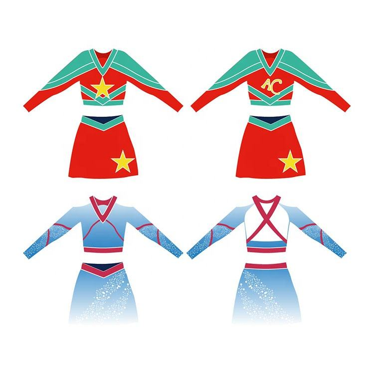 Manufacturer customized dance clothing football cheerleading uniform