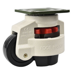 360 degree swivel caster wheels retractable leveling castor
