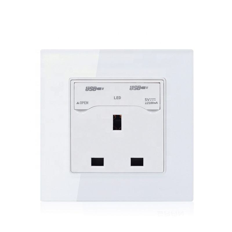 Best price home double USB wall british 13amp socket