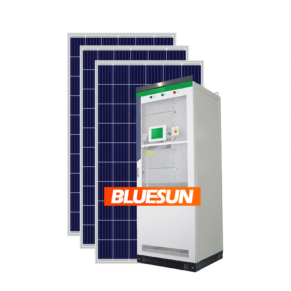 BLUESUN Grid Tied/Off Grid/Hybrid Solar Power System Off Grid Complete 30KW 50KW 100KW Solar Panels System Energy Storage System