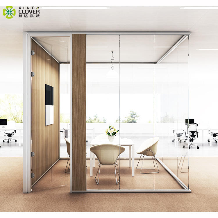 foshan factory price of aluminium dividers wood office partition