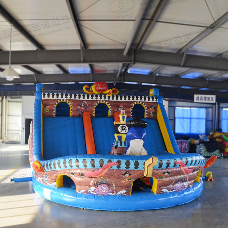 Pirate ship boat theme inflatable bouncer bouncy house castle