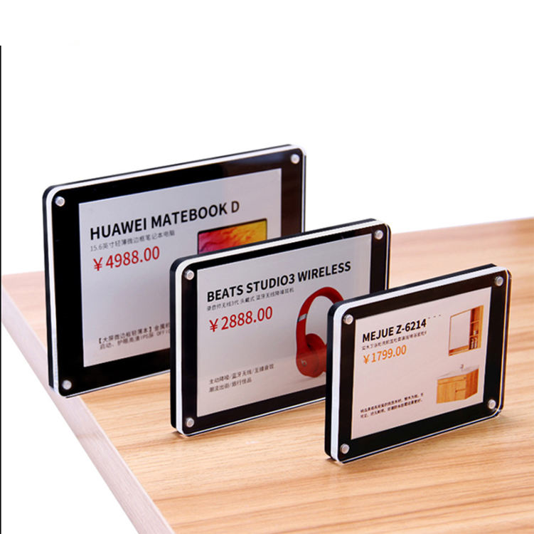 Factory Directly 4X6 5X7 6X8 Magnetic Transparent Lucite Photo Frame Picture Frame for Decoration