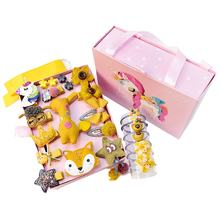 Wholesale fashionable high quality cute fabric animal hair accessories 24pcs luxury children lovely gift set