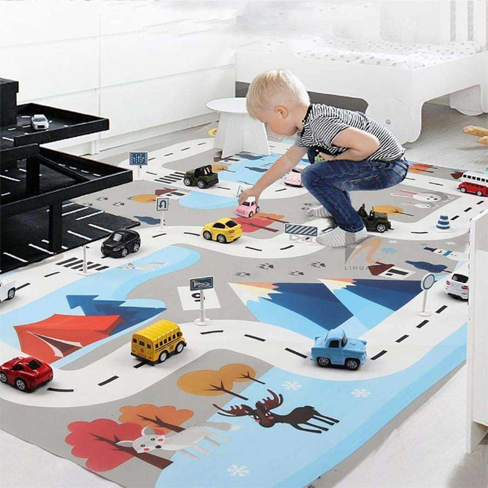 High quality Educational game Traffic City Town Road Car Kids Developing Play Mat for children