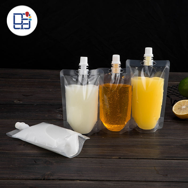 Custom Beverage Juice Stand Up Spout Pouch Bag