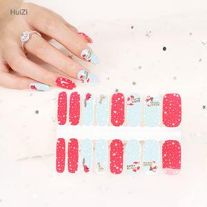 Happy Christmas Beautiful Design 100% Nail Polish Strips Nail Warps Nail Art Decoration Sticker