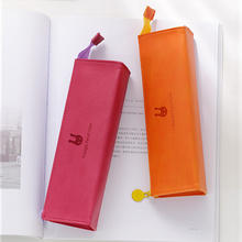 Wholesale simple large capacity pencil case for junior high school students