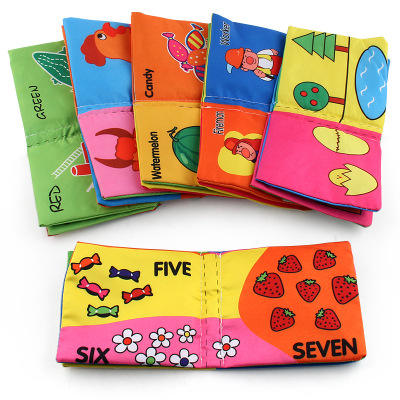 Fabric Book Early Education Toy English Palm Book Animal Number Cognition Baby Cloth Book Kids Learning Toy