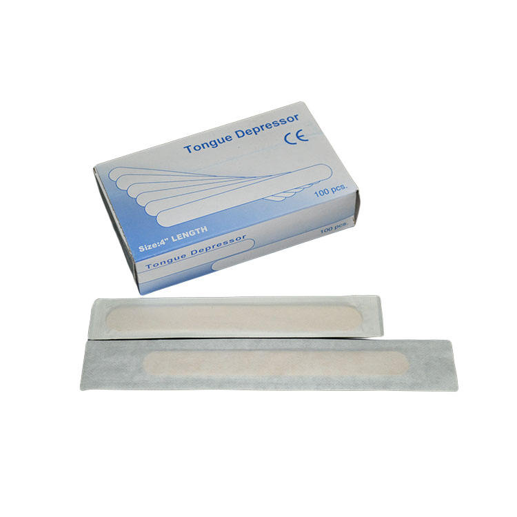 Good Quality Nontoxic Disposable Sterile Medical Wooden Tongue Depressor