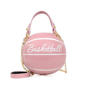 Basketball Shape High Quality PU Crossbody Chain Bags Purses And luxury Handbags For Women