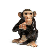 ceramic  small home decor animal statue monkey figurine