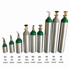 New aluminum cylinder- CO2 tank cylinder medical oxygen gas cylinders