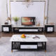 Nordic light luxury living room simple modern creative small apartment marble coffee table TV cabinet combination